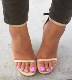 So sexy. beautiful soft feet in strappy heels! My favourite! Her feet in these heels are perfect for a shoejob! Pretty Toe Nails, Pretty Toes, Feet Soles, Women's Feet, Stilettos, Pies Sexy, Nice Toes, Feet Nails, Toenails