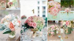 Na stoły proponujemy hortensję (duża objętość), róże, goździki, gipsówkę, piwonie, dalie.
