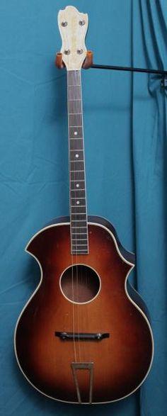 1930's Kay Kraft 4 string Tenor Guitar.