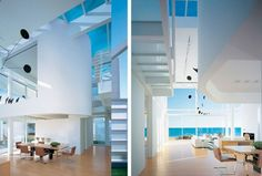 Transparent White Beach House in Southern California