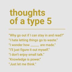 thoughts of a type 5 enneagram Type 5 Enneagram, Enneagram Test, Mbti, Infj Type, Intj Personality, Introvert, Infp, Thing 1, Get To Know Me