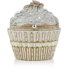 Judith Leiber Sequin Cupcake Clutch Bag