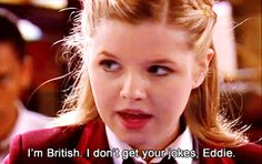 I'm British. I don't get your jokes, Eddie, Amber and Eddie, House of Anubis, funny