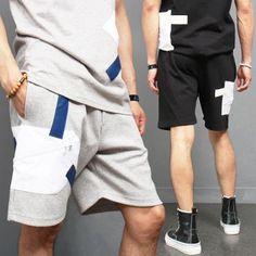 Avant garde Zipper Pocket Athletic Short Sweatpants