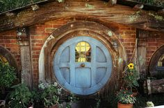 from the set of The Hobbit in New Zealand  Hobbit Hole by Mischa Pringle, via Flickr