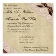 brown pink counrty wedding invitations | Cheap Lace Wedding Invitations, 226 Cheap Lace Wedding Invites ...