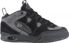 67831f21cb63d0 eS Shoes - Burnquist - Black   Skately Library Skate Shoes