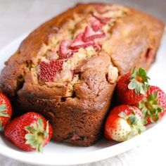 Whole Grain Strawberry Banana Bread: a variation on standard banana bread recipes with whole wheat and quinoa flour.