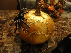Nikki's glitter & sequin pumpkin @Nikki Chapman