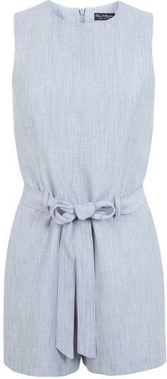 Womens ice blue playsuit from Miss Selfridge - £39 at ClothingByColour.com