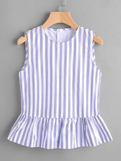 Shop Vertical Pinstripe Sleeveless Peplum Top online. SheIn offers Vertical Pinstripe Sleeveless Peplum Top & more to fit your fashionable needs.