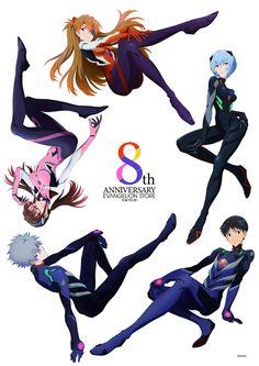 'Evangelion - Asuka' Poster by Neon Genesis Evangelion, Rei Ayanami, Mecha Anime, Evangelion Shinji, Evangelion Tattoo, Hideaki Anno, 8th Anniversary, Good Anime Series, Japon Tokyo