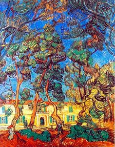 "Vincent van Gogh, ""Grounds of the Asylum"" - 1889. on ArtStack #vincent-van-gogh #art"