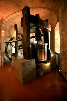 old press at Valiano Estate, chianti classico