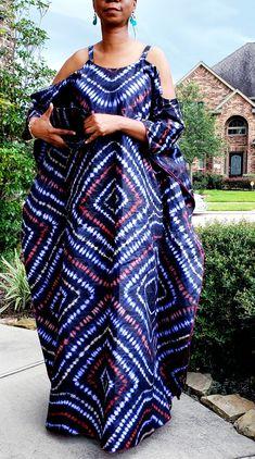 Latest African Fashion Dresses, African Print Dresses, African Print Fashion, African Dress, Tie Dye Fashion, Batik Fashion, Comfy Dresses, Summer Dresses, Cotton Long Dress