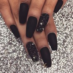 50 Most Trendy Sexy Dark Coffin Nails Design for Weekend Party - Nail Design 04 . - 50 Most Trendy Sexy Dark Coffin Nails Design for Weekend Party - Nail Design 04 ♥ ♥ ♥ ♥ ♥ - Black Acrylic Nails, Black Coffin Nails, Cute Black Nails, Nail Black, Party Nails, Fun Nails, Coffen Nails, Sexy Nails, Toenails