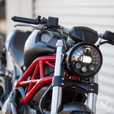 Completely transform the look and lighting performance of your Ducati with our Monster Headlight Conversion. Simple to install and completely plug and play. Ducati Cafe Racer, Ducati 696, Moto Ducati, Scrambler Custom, Triumph Scrambler, Triumph Bonneville, Honda Motorcycles, Vintage Motorcycles, Ducati Monster 1100