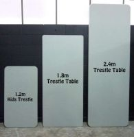 From your standard hire trestle tables, round tables, kids tables, cafe tables and classic round tables; Table Hire, Cafe Tables, Party Hire, Trestle Table, Kid Table, Bar, Coffee Tables, Kid Desk