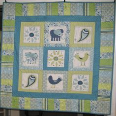 Boy Crib Quilt Elephant Karma Baby Quilt or by JuneBugQuilts, $55.00