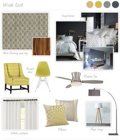 master bedroom decor - inspiration board