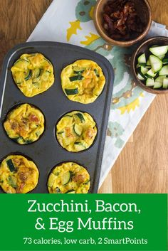 Bacon, Egg, Zucchini, and Cheese Muffins - Slender Kitchen