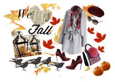 """""""we love fall... :)"""" by zuza-boza on Polyvore featuring Casadei, Chicwish, Les Petits Joueurs, Burberry and Accessorize"""