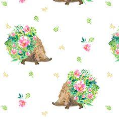 Hedgehog Love fabric by shopcabin on Spoonflower - custom fabric