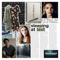 """""""Lydia Martin"""" by lucidmoon ❤ liked on Polyvore featuring Bebe, Converse, women's clothing, women, female, woman, misses and juniors"""
