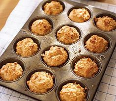 Peanut Butter Muffins-real simple magazine  Remove the muffins from the pan after letting them cool for 10 minutes or else they will get dry