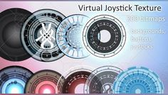 Virtual Joystick Textures - CryzardesGUI has just been added to GameDev Market! Check it out: http://ift.tt/1S5kEJy #gamedev #indiedev