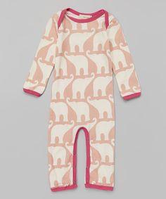 1742e7eeb8ba Love this zebi Rose Elephant Organic Playsuit - Infant by zebi on  zulily!