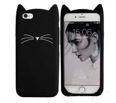 for apple 7plus fashion cute cat beard case iphone 5 5S SE 6 6G 6S 7 plus soft back cover full protective shell capa coque funda