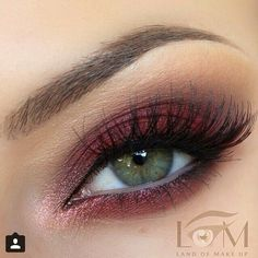 #makeup #pretty #maroon