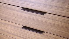 Leather Drawer Pulls by Henry Built (?). Nice and subtle detail.
