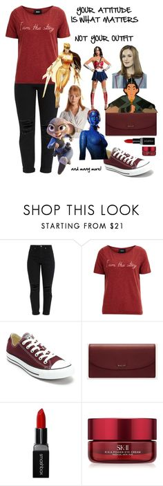 """""""it's the inside that counts"""" by crimson-quartz ❤ liked on Polyvore featuring Object Collectors Item, Converse, Bally, Smashbox, SK-II, Power Rangers, Disney and MyPowerLook"""