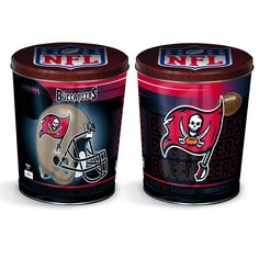 Tampa Bay Buccaneers Popcorn Tin | Three Gallon Gift Tin with 7 Flavors