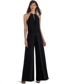 ea7c8e9c6a98 Sleeveless Split Leg Black Jumpsuit Split Pants