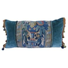 Check out this item at One Kings Lane! Custom Pillow w/ 18th-C. Tapestry