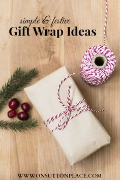 Take your homemade baked goods to the next level with simple and festive gift wrap ideas. Inspiration to make your gifts extra special!