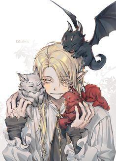 Manga Anime, Anime Elf, Cute Anime Boy, Anime Art Girl, Anime Guys, Character Concept, Character Art, Character Design, Manhwa