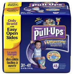 Huggies Pull-Ups Training Pants, Nighttime, Boys, 3T-4T, 48 Count