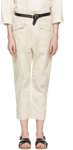Isabel Marant Etoile - Pantalon écru Oaklyn Pockets