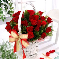 2 dozen fresh red roses in basket to Philippines,send flowers to Philippines,delivery rose basket to Philippines,roses in basket send to manila Philippines,roses online delivery to Philippines Special Flowers, Flowers For You, Red Flowers, Red Roses, Rose Delivery, Rose Basket, Flower Baskets, Happy Birthday Pictures, Hearts And Roses