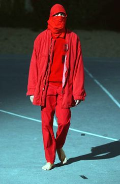 Raf Simons SS02 'Woe Onto Those Who Spit On The Fear Generation…The Wind Will Blow It Back'