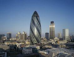 Swiss Re, London, UK. Foster+Partners. Exterior.
