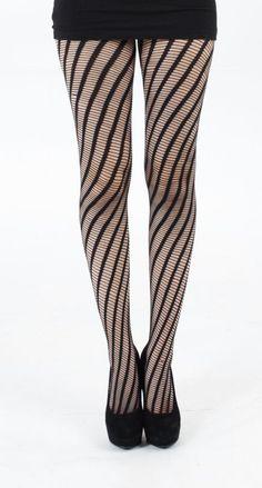 Diagonal striped fishnets