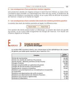 Thème 01 Partie 01:Zoom's Exercices d'analyse financière avec corrigés 05/10/10 15:20 Page17 Thème 1 • Le compte de résul...