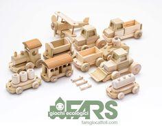 FARS classic wood toys family