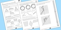 Year 4 Maths Assessment: Geometry - Properties of Shapes Term 1