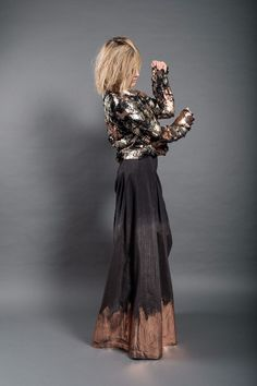 Dip Dye, Dark, Formal Dresses, Skirts, Fabric, Cotton, Jackets, Outfits, Clothes